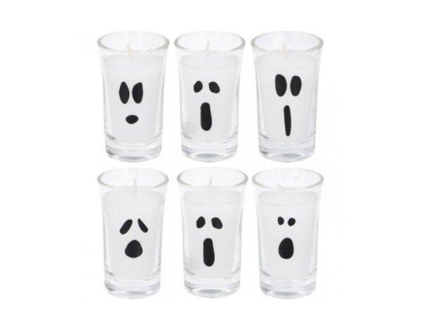 Свещ в чаша Halloween - 6 бр.