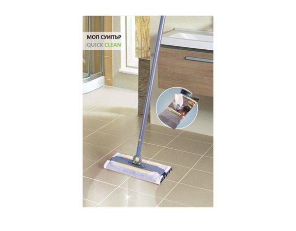 Моп Quick Clean - за сухо и мокро почистване