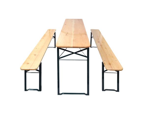 Градинска маса с две пейки - сгъваеми
