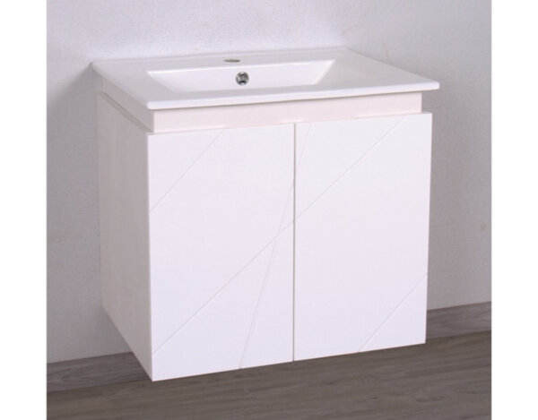 PVC шкаф с порцеланов умивалник - 61 x 55 x 46 cm