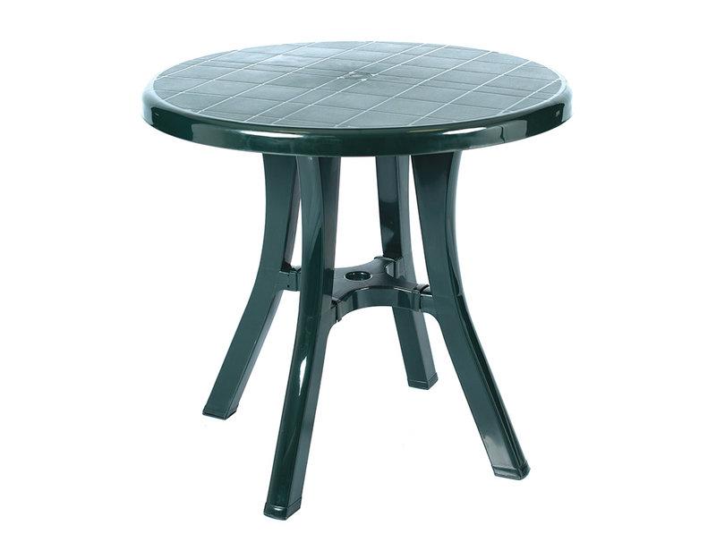 Пластмасова маса - бяла/зелена, ø80 cm