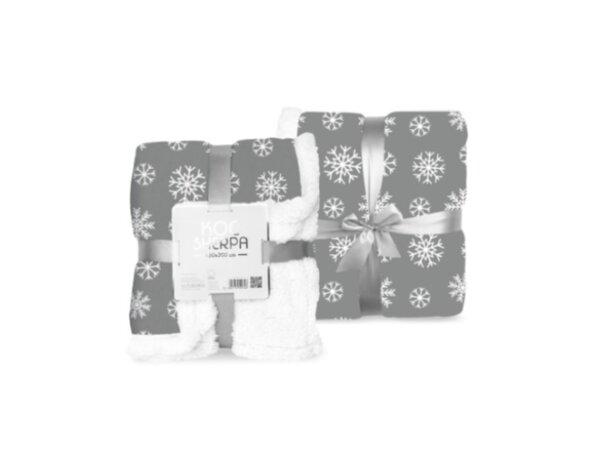 Одеяло Sherpa 026, сиви снежинки - 150 x 200 cm