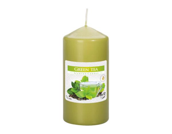 Свещ Pillar - зелен чай, 60 x 120 mm