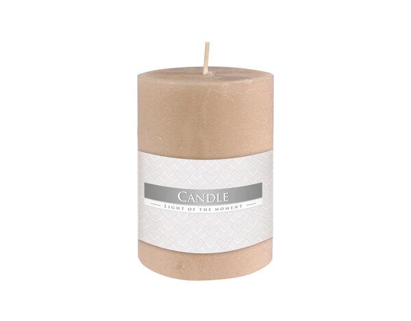 Свещ Rustic Pillar - крем, ø7 cm x 10 cm