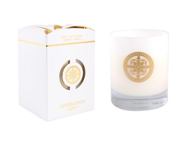 Ароматизирана свещ в украсена чаша Soft - 7.9 x 9.4 cm