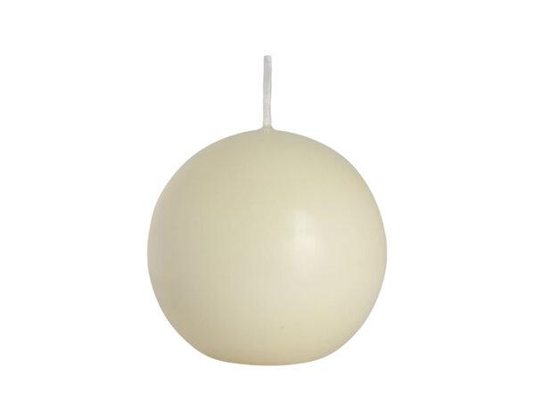 Свещ Ball - екрю, ø8 cm