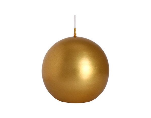 Свещ Ball - златен маталик, ø8 cm