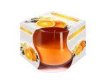 Ароматизирана свещ в чаша, ø8 x 7 cm - ванилия/портокал