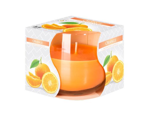 Ароматизирана свещ в чаша, ø8 x 7 cm - портокал