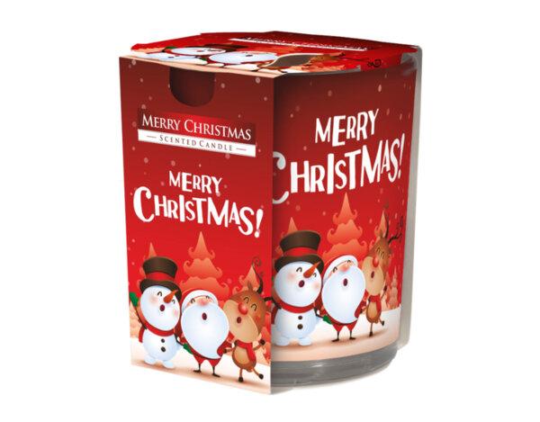 "Ароматизирана свещ в украсена чаша, ø7.8 x 7.2 cm - ""Весела Коледа"""