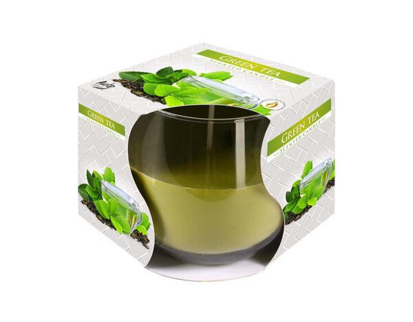 Ароматизирана свещ в чаша, ø8 x 7 cm - зелен чай