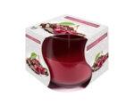 Ароматизирана свещ в чаша, ø8 x 7 cm - шоколад/череша