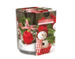 "Ароматизирана свещ в украсена чаша, ø7.8 x 7.2 cm - ""Щастлива Коледа"""