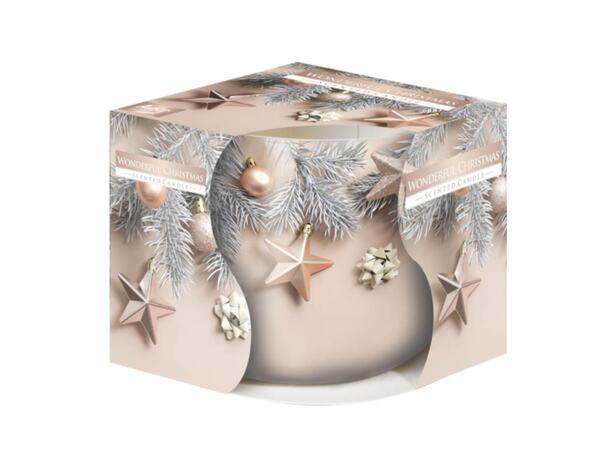 Ароматизирана свещ в украсена чаша, ø8 x 7 cm - невероятна Коледа