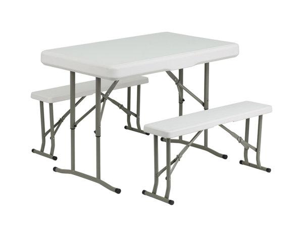 Сгъваема маса с две пейки