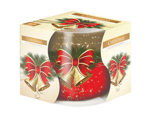 Ароматизирана свещ в украсена чаша, ø8 x 7 cm - Коледа