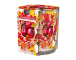 Ароматизирана свещ в украсена чаша, ø7.8 x 7.2 cm - златна есен