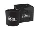 """Ароматизирана свещ в чаша с фолио, ø10.8 x 10.3 cm - """"Просто се усмихни"""""""