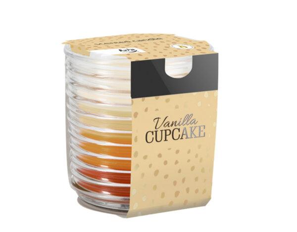 Ароматизирана свещ в чаша, три цвята - ø8 x 8.2 cm, ванилово кексче