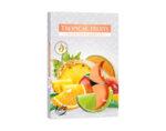 Ароматизирани чаени свещи, 6 бр. - тропически плодове