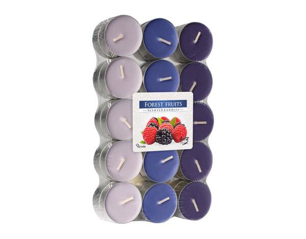 Ароматизирани чаени свещи, 30 бр. - горски плодове