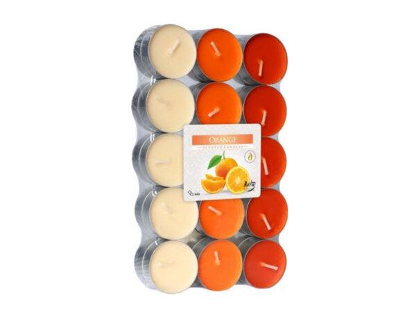 Ароматизирани чаени свещи, 30 бр. - портокал