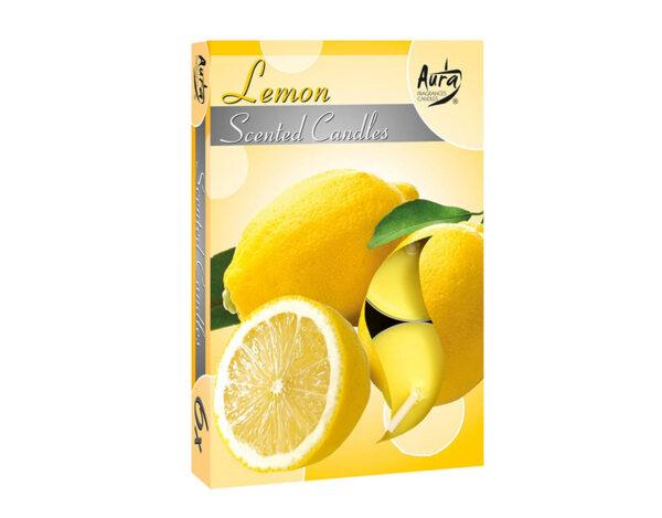 Ароматизирани чаени свещи, 6 бр. - лимон