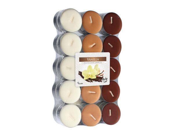 Ароматизирани чаени свещи, 30 бр. - ванилия