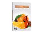 Ароматизирани чаени свещи, 6 бр. - портокал/канела