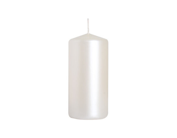 Неароматизирана свещ Pillar - ø5 x 10 cm, перлен