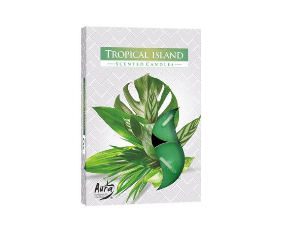 Ароматизирани чаени свещи, 6 бр. - тропически остров