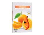 Ароматизирани чаени свещи, 6 бр. - портокал