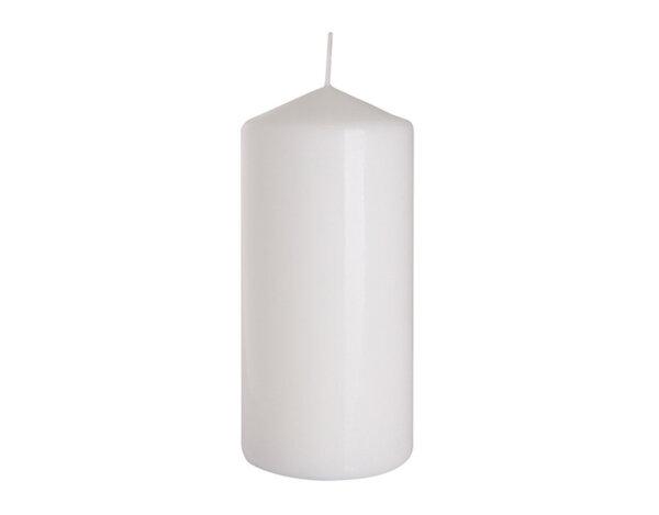 Неароматизирана свещ Pillar - ø7 x 15 cm, бяла