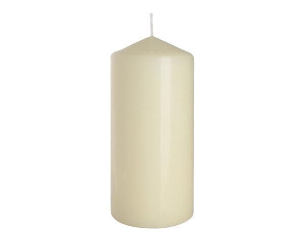 Неароматизирана свещ Pillar - ø7 x 15 cm, екрю