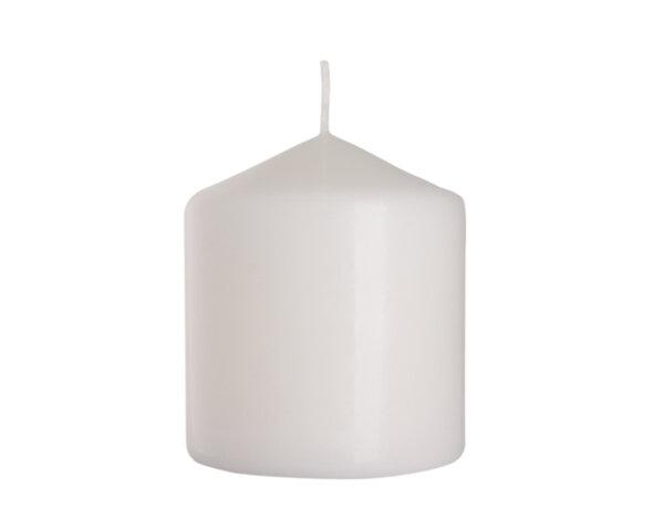 Неароматизирана свещ Pillar - ø8 x 9 cm, бяла