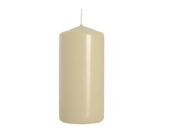 Неароматизирана свещ Pillar - ø5 x 10 cm, екрю