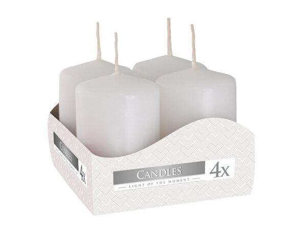 Неароматизирани свещи Votive, 4 бр. - ø4 x 6 cm, перлени