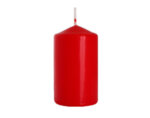 Неароматизирана свещ Pillar - ø6 x 10 cm, червена