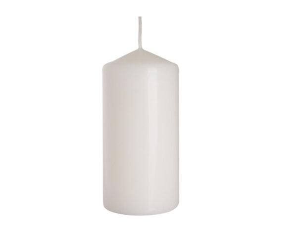 Неароматизирана свещ Pillar - ø6 x 12 cm, бяла