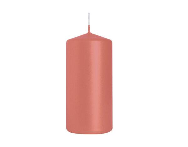 Неароматизирана свещ Pillar - ø5 x 10 cm, червен металик