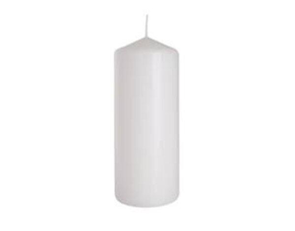 Неароматизирана свещ Pillar - ø6 x 15 cm, бяла