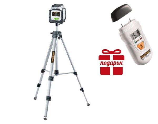 Професионален линеен лазер Duraplane G360 Set 175 cm + 🎁 влагомер DampCheck