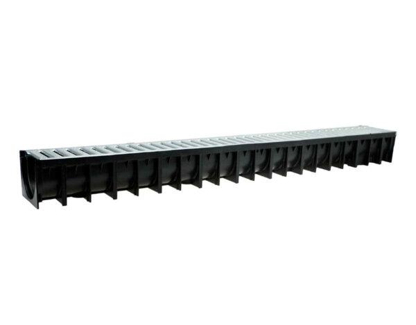 Отводнителен канал HD-PE АСО Easyline и решетка от поцинкована стомана