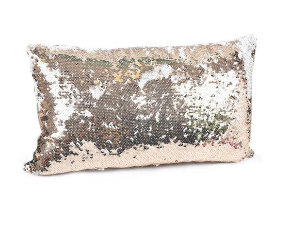 Декоративна възглавница с пайети - 25 x 45 cm