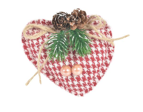 Коледна украса KY-23263 - сърце 10 cm