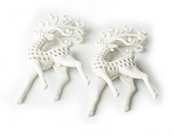 Коледна украса KY-22828, 9 x 14 cm - еленчета, 2 бр.