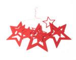 Коледна украса от хартия KY-23324 - 12 бр. звезди, различни цветове