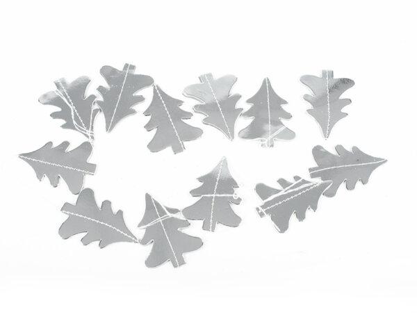 Коледна украса от хартия KY-23325 - 12 бр. сребристи дръвчета