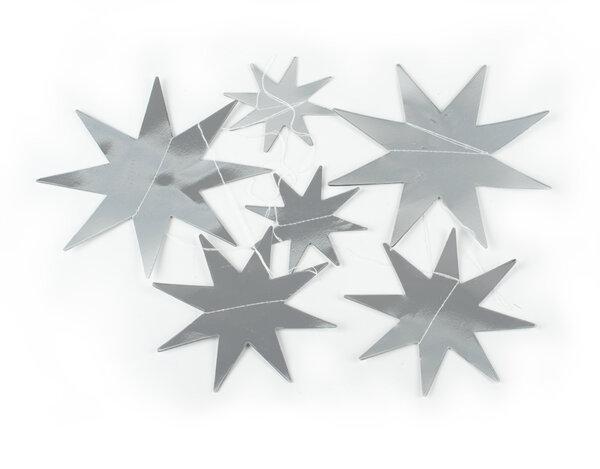 Коледна украса от хартия KY-23326 - 6 бр. звезди, различни цветове