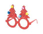 Коледни очила KY-22955, 14 x 11.5 cm - червени